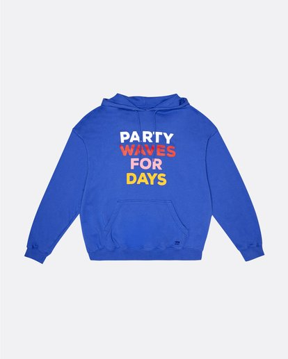 0 Party Wave - Hoodie for Women Blue S3HO06BIP0 Billabong