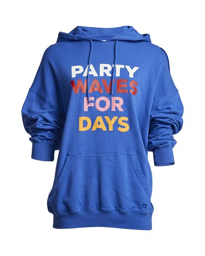 1 Party Wave - Hoodie for Women Blue S3HO06BIP0 Billabong