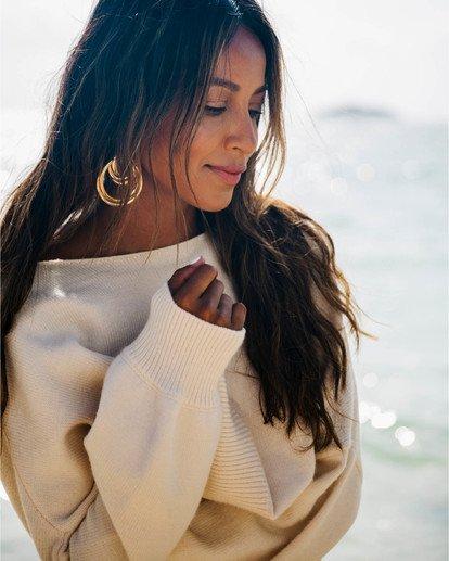 0 Match Maker Sweater - Sudadera holgada para Mujer Beige S3JP07BIP0 Billabong