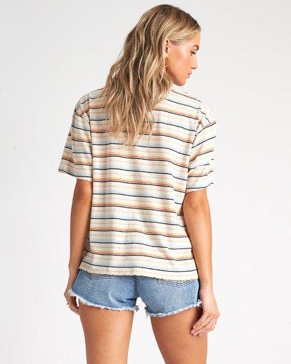 2 Lover - Camiseta con bolsillo de rayas para Mujer Multicolor S3KT03BIP0 Billabong
