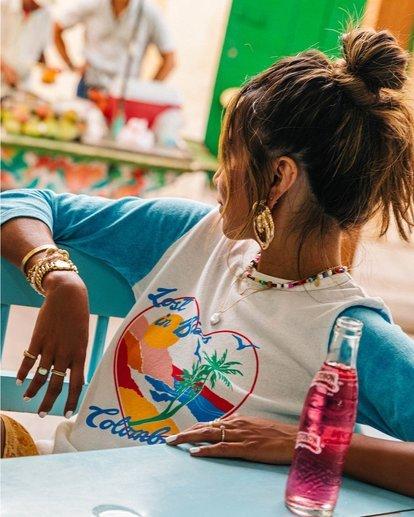 0 Scenic Pastime - Camiseta con mangas raglán para Mujer Azul S3KT08BIP0 Billabong