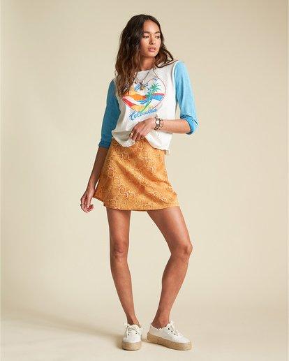 1 Scenic Pastime - Camiseta con mangas raglán para Mujer Azul S3KT08BIP0 Billabong