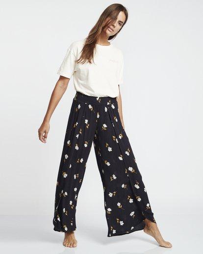 5 Wandering Soul - Pantalones floreados para Mujer Negro S3PT06BIP0 Billabong