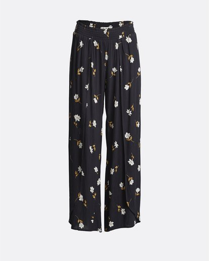 3 Wandering Soul - Pantalones floreados para Mujer Negro S3PT06BIP0 Billabong