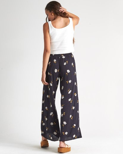 1 Wandering Soul - Pantalones floreados para Mujer Negro S3PT06BIP0 Billabong