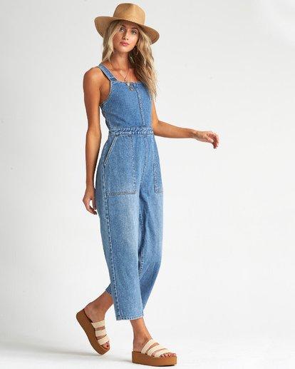 3 Ball In - Jeans-Overall für Frauen Blau S3PT27BIMU Billabong