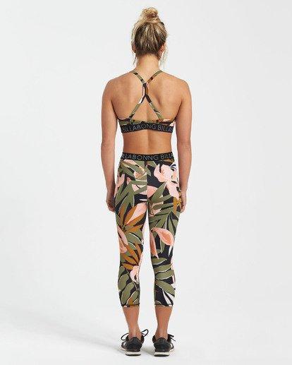 1 In Motion - Capri Fitness Leggings für Frauen Schwarz S3PV11BIMU Billabong