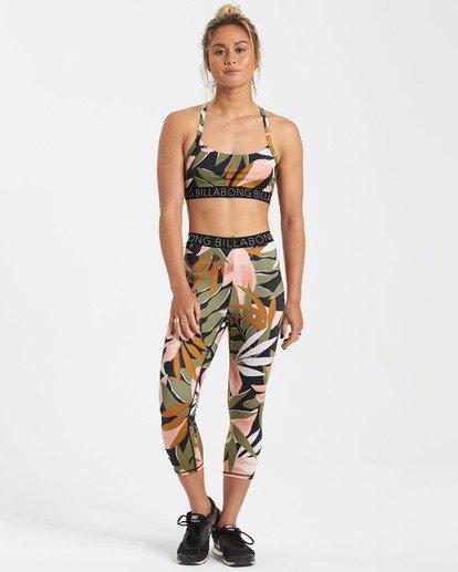 0 In Motion - Capri Fitness Leggings für Frauen Schwarz S3PV11BIMU Billabong