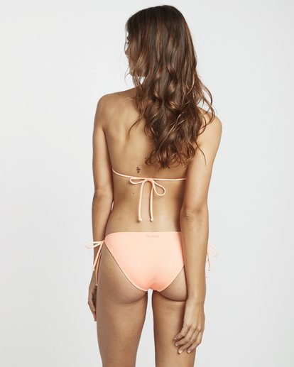 3 S.S Tie Side Tropic - Tie Side Bikini Bottoms for Women Pink S3SB06BIP0 Billabong