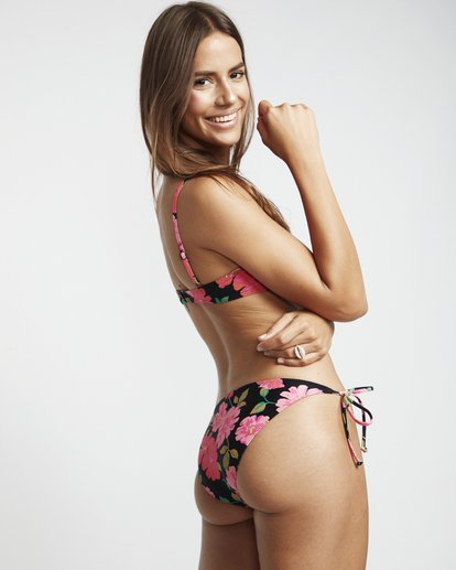 1 Sweet Song Tropic - Bikinihose zum Knoten mit Blumenmuster für Damen Schwarz S3SB21BIP0 Billabong