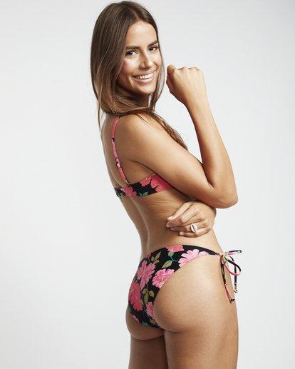 1 Sweet Song Tropic - Braguita de bikini floreada con lazada lateral para Mujer Negro S3SB21BIP0 Billabong