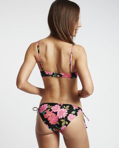 2 Sweet Song Tropic - Braguita de bikini floreada con lazada lateral para Mujer Negro S3SB21BIP0 Billabong