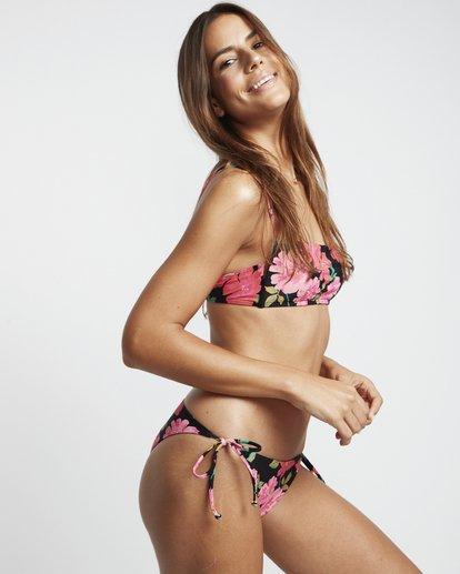 3 Sweet Song Tropic - Braguita de bikini floreada con lazada lateral para Mujer Negro S3SB21BIP0 Billabong