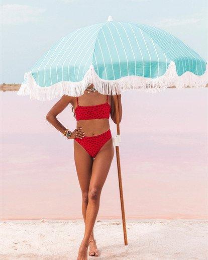 0 Rio Rain Maui - Braguita de bikini de tiro alto con estampado de lunares para Mujer Rojo S3SB68BIP0 Billabong