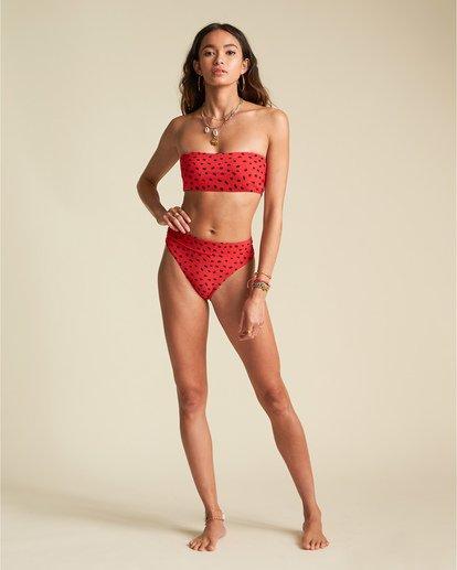 2 Rio Rain Maui - Braguita de bikini de tiro alto con estampado de lunares para Mujer Rojo S3SB68BIP0 Billabong