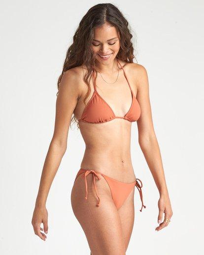 1 Sol Searcher Tropic - Braguita de Bikini con Lazadas Laterales para Mujer Marron S3SB85BIMU Billabong