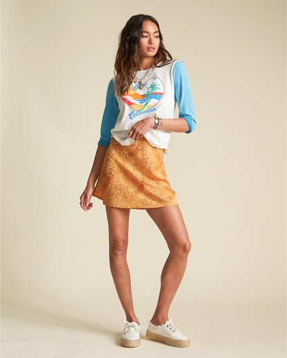1 Short And Free - Minifalda con estampado de serpiente para Mujer  S3SK07BIP0 Billabong