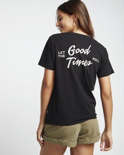 1 First - Camiseta para Mujer Negro S3SS11BIP0 Billabong