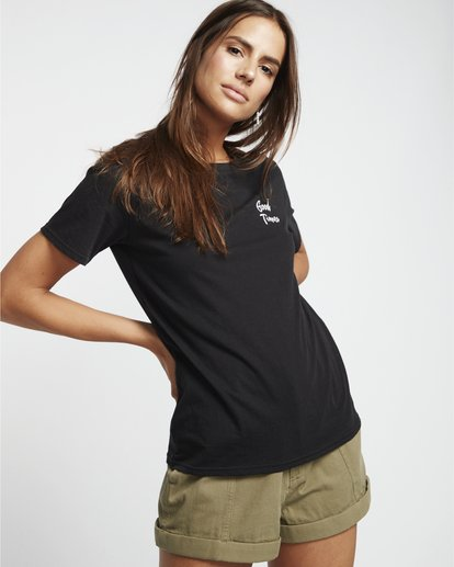 0 First - Camiseta para Mujer Negro S3SS11BIP0 Billabong