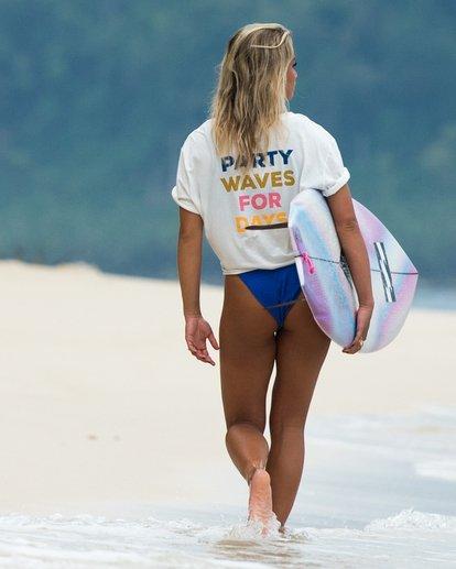 0 Party Waves - Grafik-T-Shirt für Damen Weiss S3SS15BIP0 Billabong