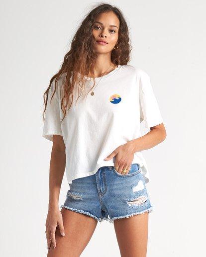 2 Party Waves - Camiseta con estampado gráfico para Mujer Blanco S3SS15BIP0 Billabong