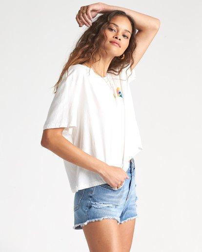 4 Party Waves - Camiseta con estampado gráfico para Mujer Blanco S3SS15BIP0 Billabong