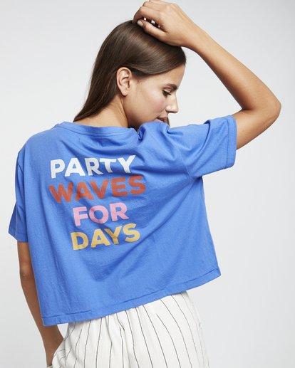 2 Party Waves - Grafik-T-Shirt für Damen Blau S3SS15BIP0 Billabong
