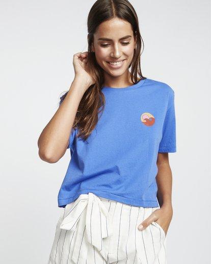 0 Party Waves - Grafik-T-Shirt für Damen Blau S3SS15BIP0 Billabong