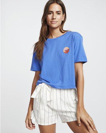 1 Party Waves - Grafik-T-Shirt für Damen Blau S3SS15BIP0 Billabong