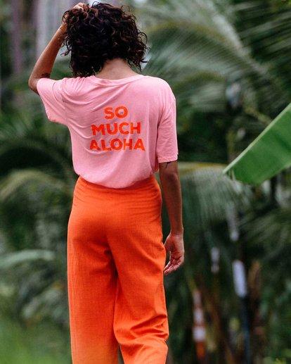 0 So Much Alhoa - Camiseta con estampado gráfico para Mujer Rosa S3SS16BIP0 Billabong