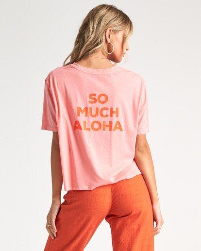 1 So Much Alhoa - Grafik-T-Shirt für Damen Rosa S3SS16BIP0 Billabong