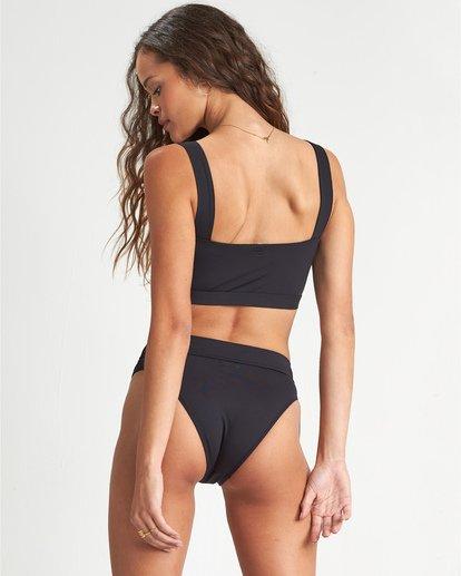 3 S.S - Cropped Tank Bikini Top for Women Black S3ST10BIP0 Billabong