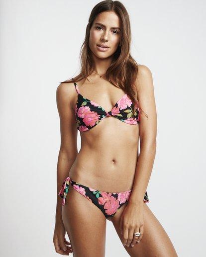 1 Sweet Song Knttd Tri - Top de bikini bralette floreado para Mujer Negro S3ST22BIP0 Billabong