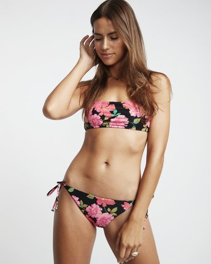 1 Sweet Song Bralette - Bralette Bikinitop mit Blumenmuster für Damen Schwarz S3ST23BIP0 Billabong