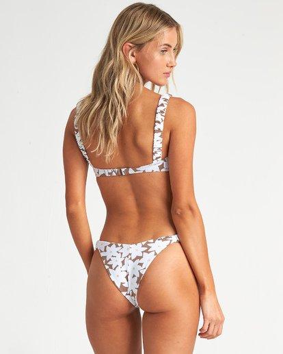 4 Slow Daze Knot Top - Top de bikini bandeau floreado para Mujer Marron S3ST28BIP0 Billabong