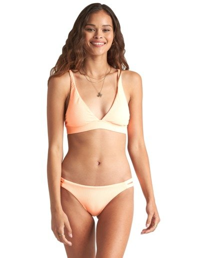 3 Under The Sun Hi Tri - Top de bikini de triángulo con punto acanalado para Mujer Rosa S3ST33BIP0 Billabong