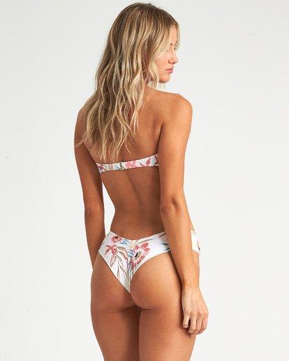 3 Coral Sands Bandeau - Floral Bandeau Bikini Top for Women White S3ST47BIP0 Billabong