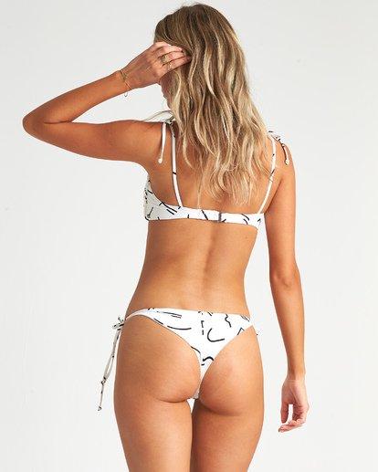 2 How Bazaar Bandeau - Printed Bandeau Bikini Top for Women White S3ST59BIP0 Billabong