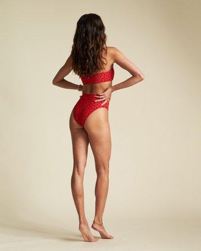 4 Rio Rain Tube Top - Top de bikini de tubo con estampado de lunares para Mujer Rojo S3ST66BIP0 Billabong
