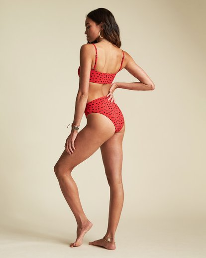 5 Rio Rain Tube Top - Top de bikini de tubo con estampado de lunares para Mujer Rojo S3ST66BIP0 Billabong