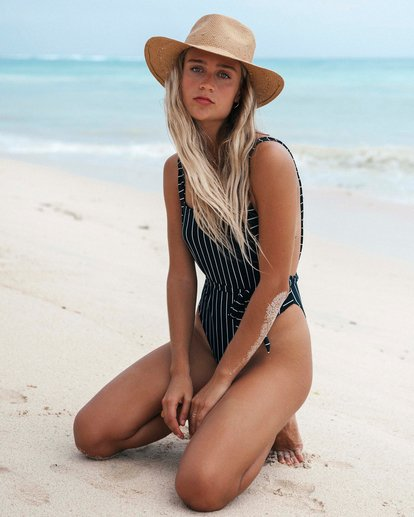 0 Find A Way - Striped One Piece Swimsuit for Women Black S3SW21BIP0 Billabong