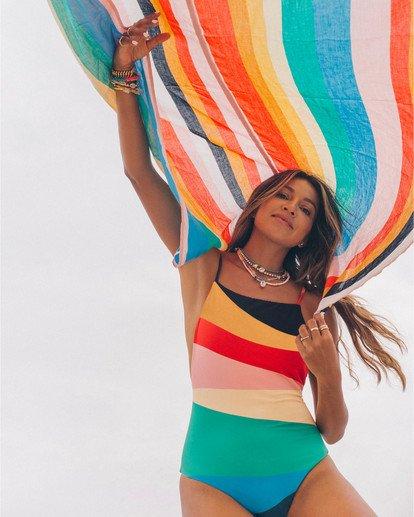 0 Mas Fiestas - Badeanzug mit Multicolor-Streifen für Damen Mehrfarbig S3SW28BIP0 Billabong