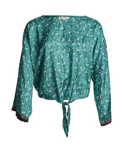 3 Back Round - Printed Blouse for Women Blue S3TP04BIP0 Billabong