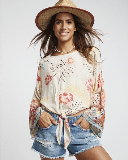0 Back Round - Blusa estampada para Mujer Multicolor S3TP04BIP0 Billabong