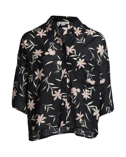3 Isa Island - Camisa holgada con botones para Mujer Negro S3TP07BIP0 Billabong