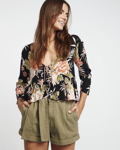 0 Take Me On - bedruckte Bluse für Damen Schwarz S3TP14BIP0 Billabong