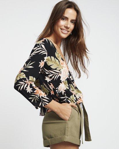 2 Take Me On - bedruckte Bluse für Damen Schwarz S3TP14BIP0 Billabong