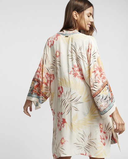 3 Fire Nights - Kimono corto para Mujer Multicolor S3TP17BIP0 Billabong
