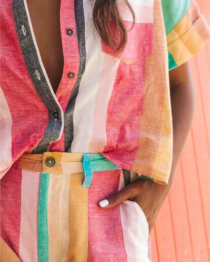 0 Santorini Dreams - gestreiftes Hemd für Damen Mehrfarbig S3TP22BIP0 Billabong