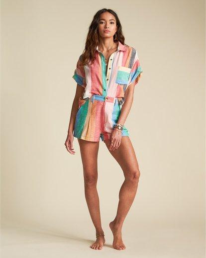 2 Santorini Dreams - gestreiftes Hemd für Damen Mehrfarbig S3TP22BIP0 Billabong